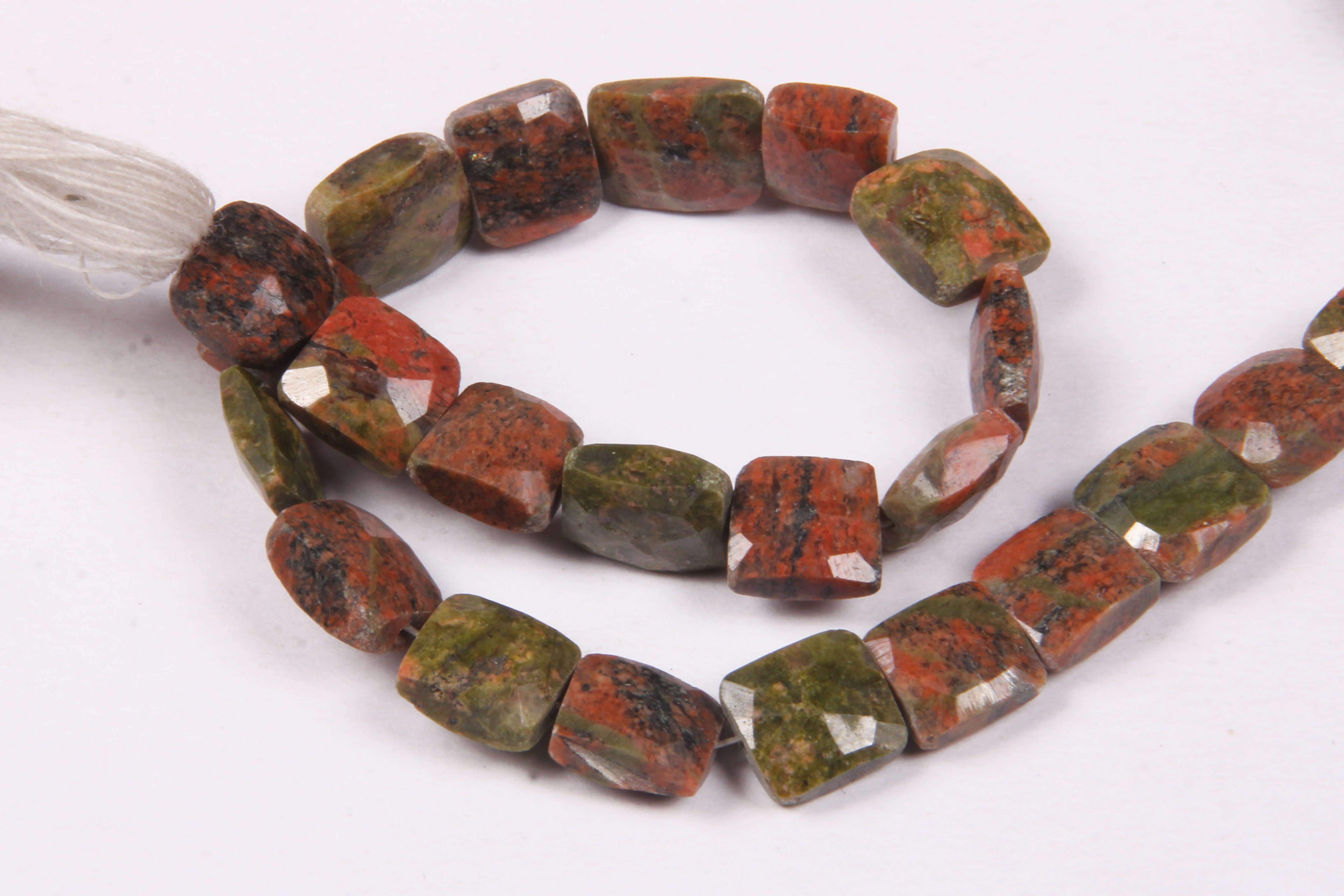 Unakite Faceted Beads