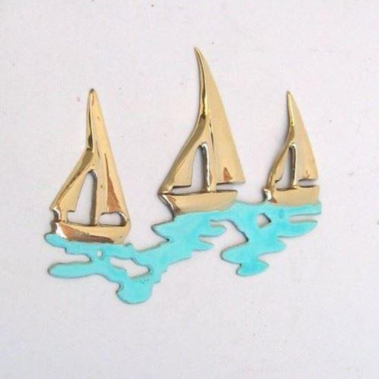 3-Sail Boat Plaque