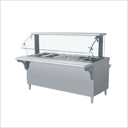 Bain marie with glass shelf