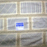Natural Fancy Brick Patchwork Fabric
