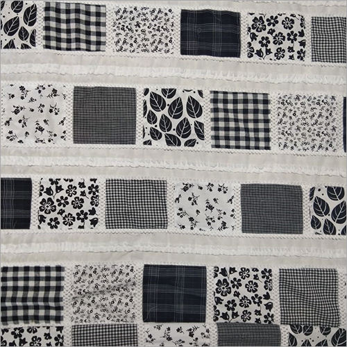 Fancy Black & White Patchwork Fabric