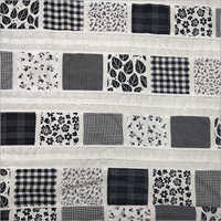 White & Black Fancy Patch Fabric