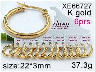 Hoop Earrings, 316L Stainless Steel Hoop Earrings in Gold Plated for Women Girls