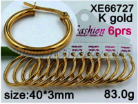 Hoop Earrings, 316L Stainless Steel Hoop Earrings in Gold Plated for Women Girls