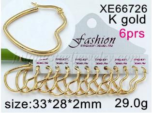 Wholesale Cheap price Womena  s Charm Stainless Steel Fashion Heart Shape Big Hoop Earrings
