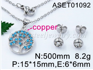 wholesale stainless steel  Tree of Life Pendant Necklace Jewelry for Women Girls with Gorgeous Gift Box