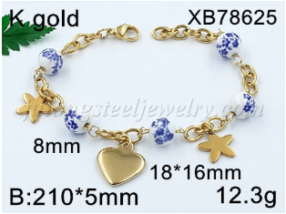 Wholesale stainless steel women bracelet new design stainless steel bracelet customized