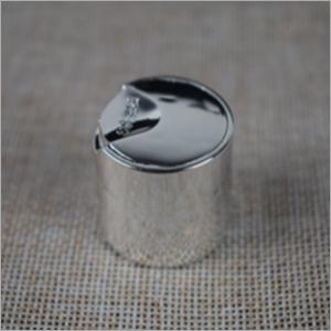 Shiny Silver Disc Top Cap