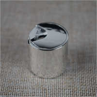 Shiny Silver Disc Top Cap