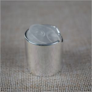 Plastic Silver Disc Top Cap
