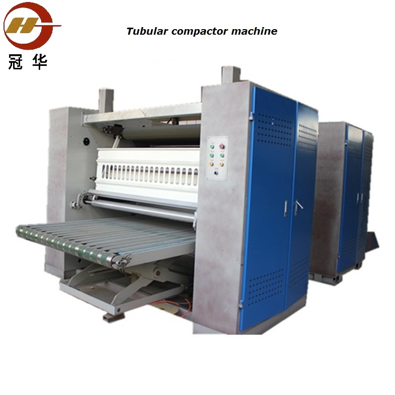 Tubular compactor machine for knitting fabric