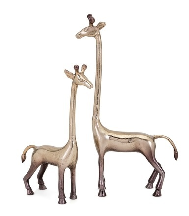 Diagle Aluminum Giraffes Sculpture Set of 2