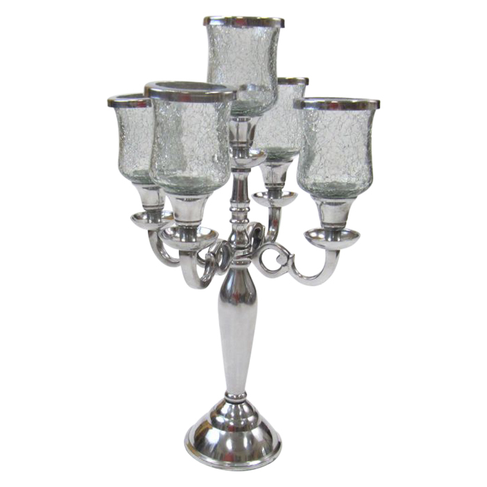 Aluminium 5-Candle Candelabra Chimney