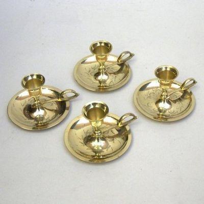 Brass Candle Holder Set