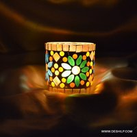 Glass Candle Holder Handmade Votive