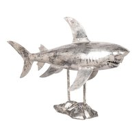 Aurelle Home Aluminum Contemporary Shark Sculpture