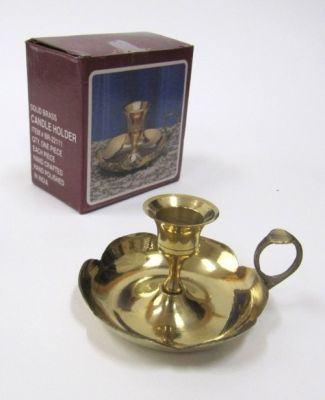 Solid Brass Candle Holder Plate