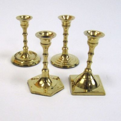 Brass Candle Holder Set