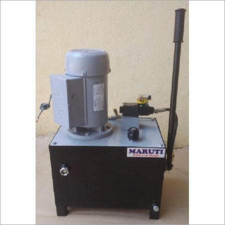 Power Pack With Hand Operated Pump Solenoid Operated