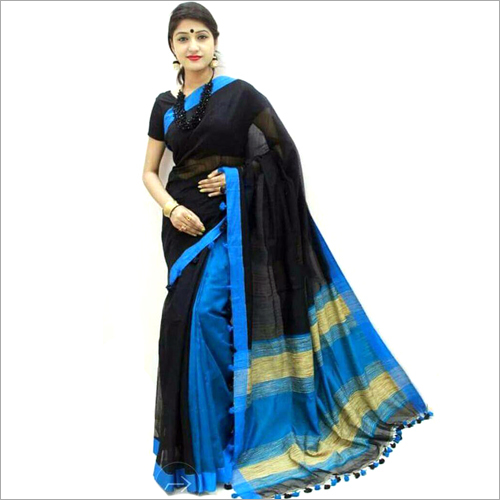 Cotton Silk Ghicha Pallu Saree