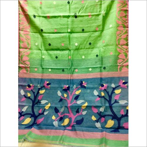 Linen Silk Jamdani Saree