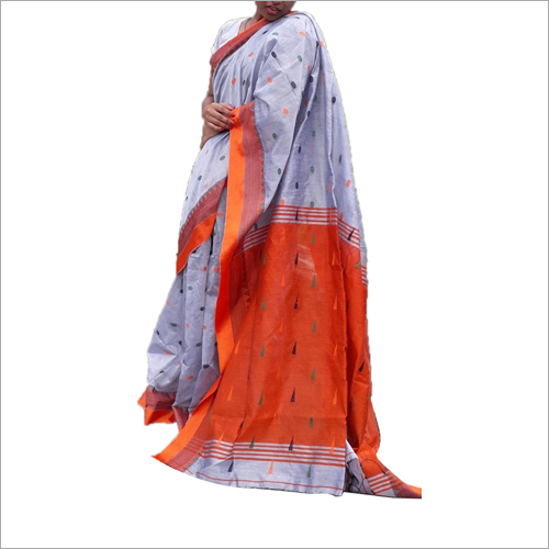 New Linen Silk Jamdani Saree