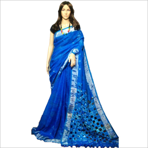 Linen Cutwork Saree