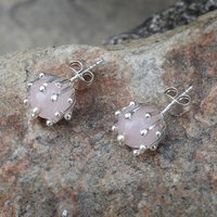Rose Quartz Gemstone 925 Sterling Silver Earring