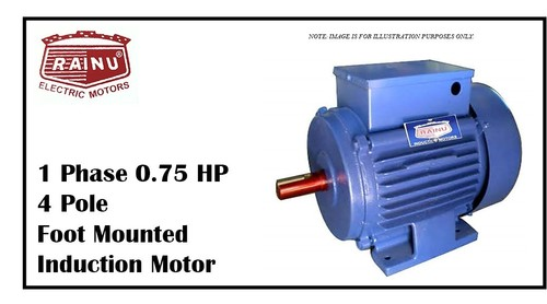 1 PHASE 0.75 HP CAST IRON MOTOR