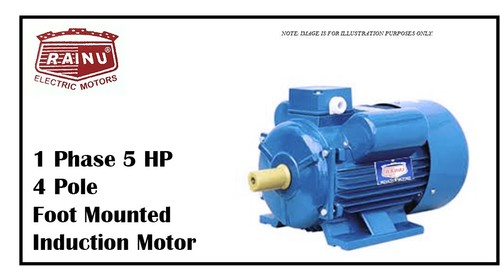 1 PHASE 5 HP CAST IRON MOTOR