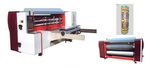 Auto Cardboard Box Die Cutting Machine / Feeding Rotary Die Cutting Equipment