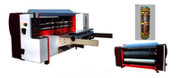 Auto Cardboard Box Die Cutting Machine / Feeding Rotary Die Cutting Equipment