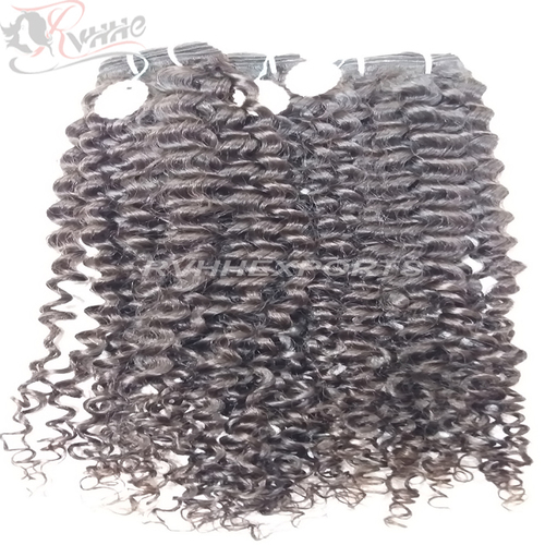 Remy Wavy Drawn Kinky Curly Human Weaves Hair