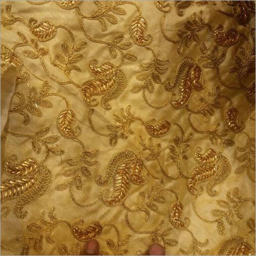 Banarasi Embroidery Silk Fabric