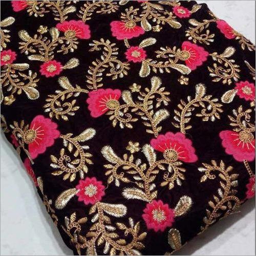 9100 Velvet Embroidery Fabric