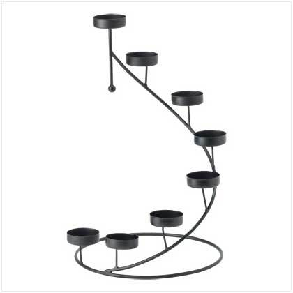 Iron Candle Holder Eight Light