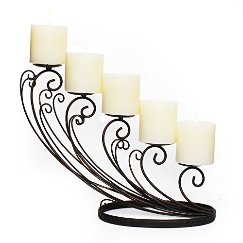 Iron Candle Holder Hanging 5 Arms