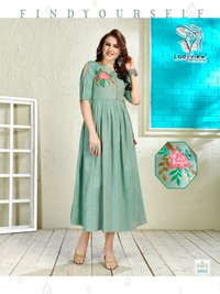 Handloom kurtis with handwork