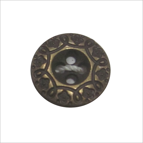 Designer Round Metal Button