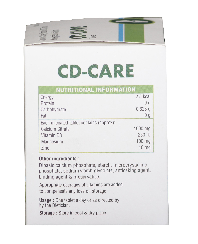 Calcium Citrate, Vitamin D3, Zinc & Magnesium Tablets