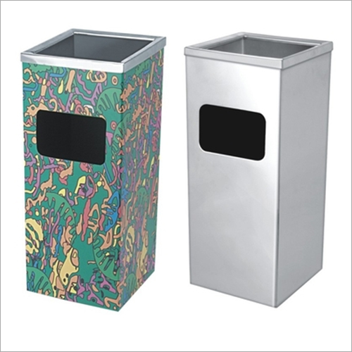 10x24 Pedestal Ashtray Dustbin