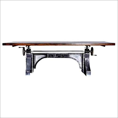 Cast Iron Adjustable Dining Table
