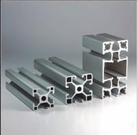 6063 Silver Extrusion Aluminum Profiles of Assembly Line Used Car Trains Machinery