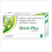 Vitamin E and Omega 3 Fatty Acid Soft Capsules