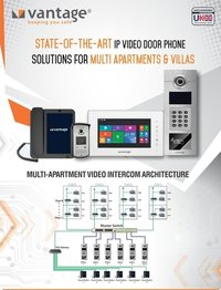 Video Door Phone Solutions for Multi Apartments and Villas