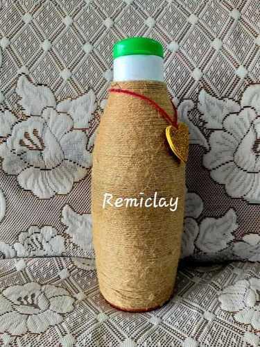Clay Jute Water Bottle