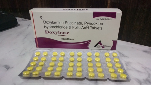Doxylamine 10mg + Pyridoxine 10mg + Folic Acid 2.5mg