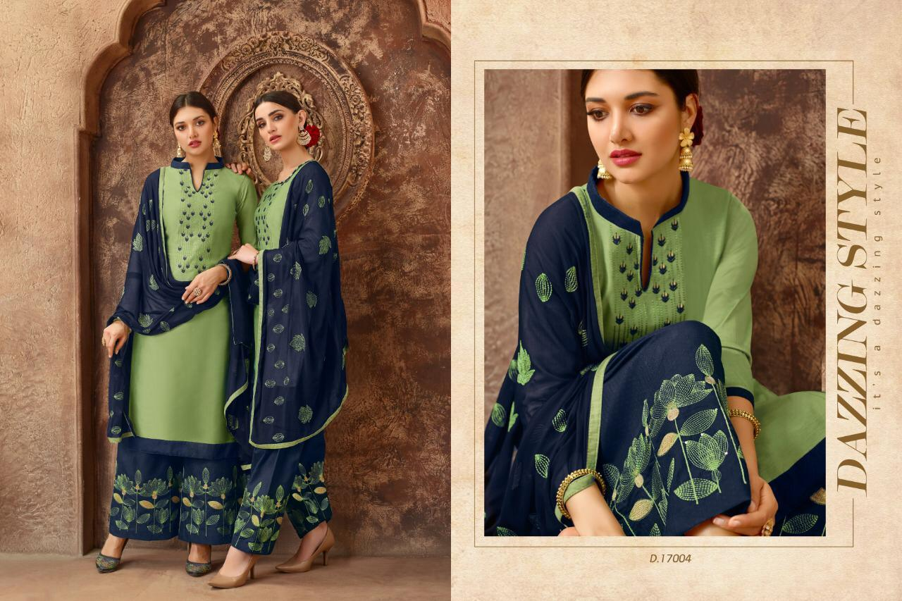 Designer Embroidered Cotton Patiyala Suit