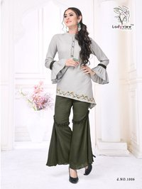 Designer Kurti with Plazzo and Kurti with Patiyala