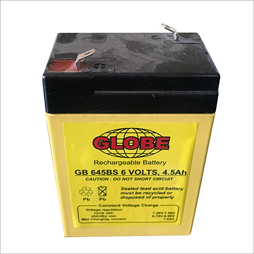 6 VOLTS 4,5 AH BATTERY FOR USE IN WEIGHING MACHINES, EMERGENCY LIGHTS, SOLAR LANTERNS